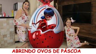 ABRINDO OVOS DE PÁSCOA LADYBUG MIRACULOUS,  PRINCESA ARIEL 2017