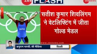 CWG 2018: Sathish Kumar Sivalingam wins gold medal in the 77kg weightlifting category