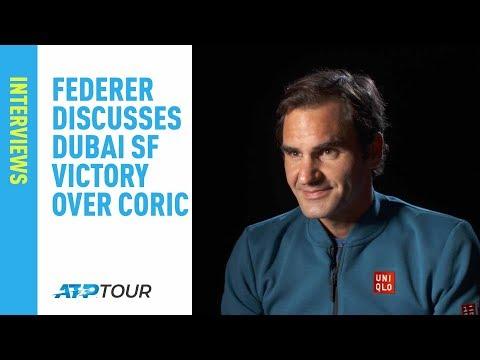 Federer Discusses Coric Win, Tsitsipas Final In Dubai 2019