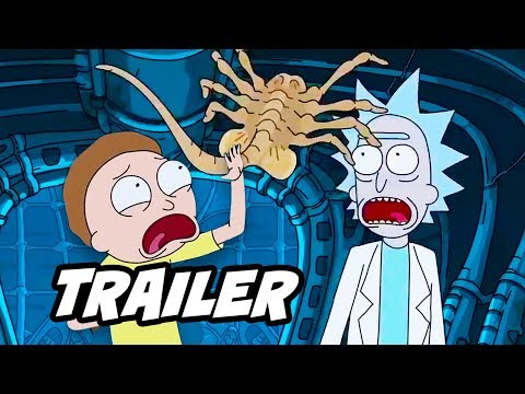 Rick and Morty Season 3 Alien Trailer and...