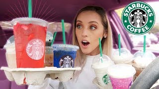 Trying MY Subscribers FAVORITE Starbucks Drinks | PART 2