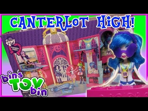 Equestria Girls Canterlot High With DJ PON-3! Huge My Little Pony Playset Review By Bin's Toy Bin