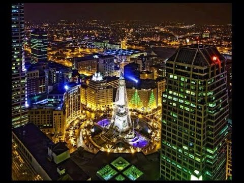 Indianapolis Monument Circle Christmas Lighting Ceremony - YouTube