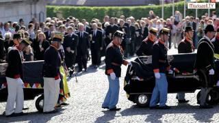 Trauerfeier um Dr. Otto von Habsburg in Mariazell - Empfang der Särge
