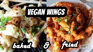 EASY VEGAN CAULIFLOWER WINGS | Recipe by Mary