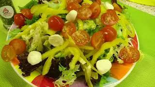 Салат с сыром Моцарелла / Mozzarella Cheese Salad