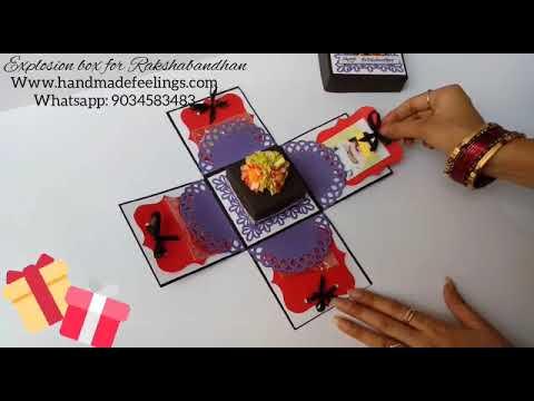 Rakhi Explosion Box - Handmade Feelings