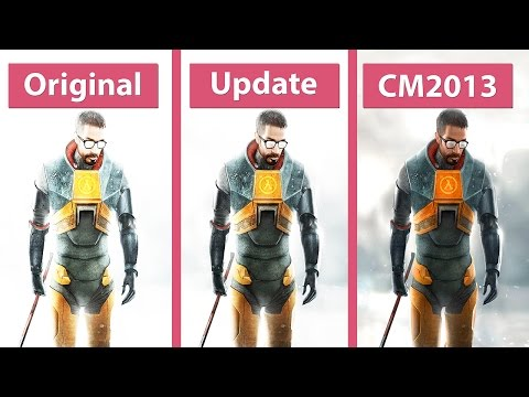 Half life 2 update vs cinematic mod 2013 vs original comparison