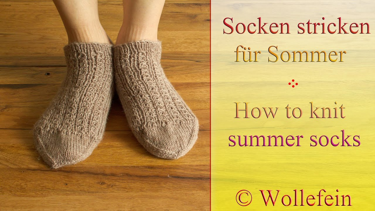 socken stricken f r sommer knitting socks for summer 4 youtube. Black Bedroom Furniture Sets. Home Design Ideas