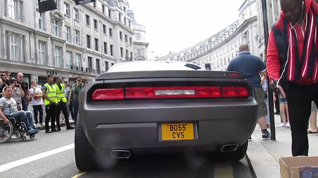 Dodge Challenger 2014 >> Very Loud Dodge challenger SRT8 at gumball 3000 London - YouTube