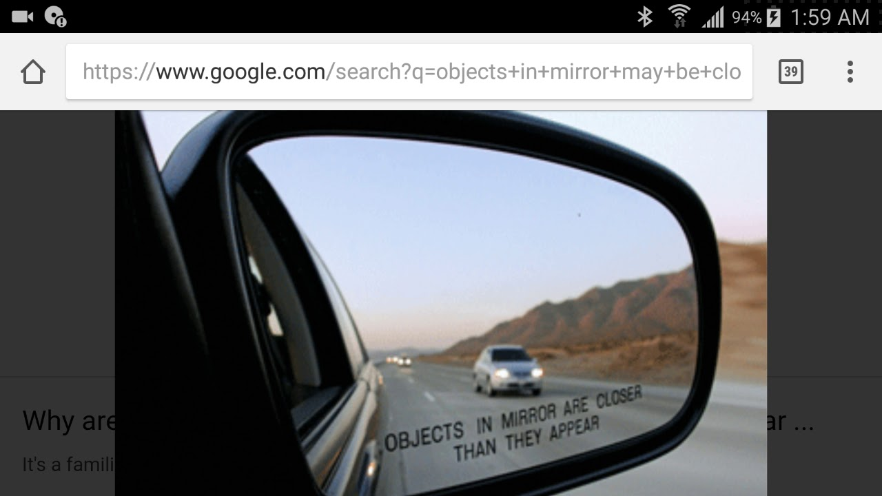 Objects In Mirror May Be Closer Than >> Big Mandela Effect Objects In Mirror Are Or May Be Closer