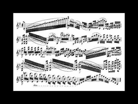 Paganini, Niccolò  Nel cor più non mi sento for violin