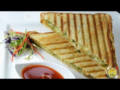 Masala Grilled Sandwich - Potato Masala  - By Vahchef @ vahrehvah.com