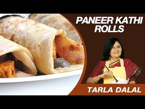 Paneer Tikka Kathi Roll Snack Recipe by Masterchef Tarla Dalal