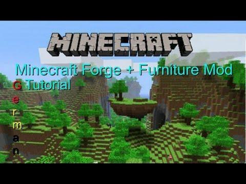 Minecraft Forge + Furniture mod Installieren German ...