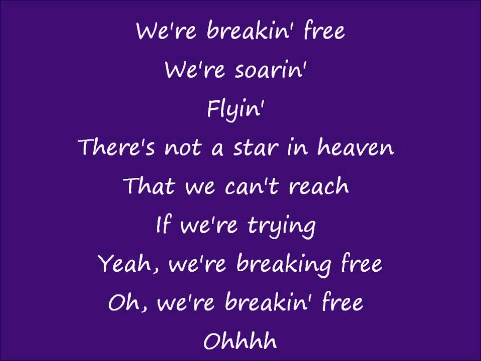 high school musical Breaking Free lyrics - YouTube