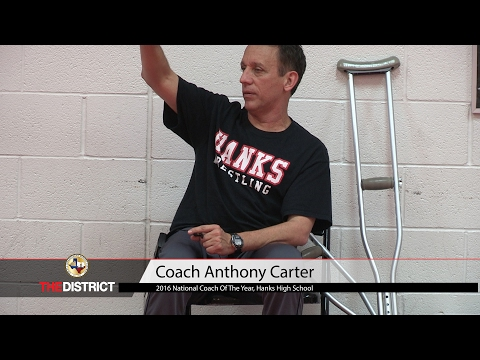 Hanks H.S. Wrestling Coach Anthony Carter wins National Coach of the Year
