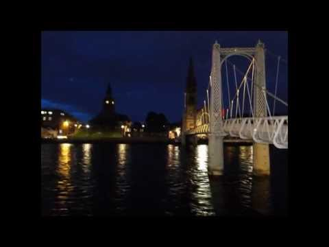 Inverness(Scotland) - Walking through Inverness streets. Highlands-  Video 1/3