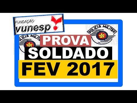 PMSP 2017 - Prova Matemática - Soldado de 2ª Classe - Polícia Militar - Vunesp 2017