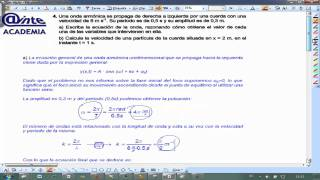 Problema onda armonica selectividad Fisica 2 Bachillerato AINTE