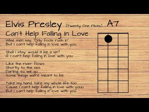 Elvis Presley (Twenty One Pilots) - Can't Help Falling In Love UKULELE TUTORIAL W/ LYRICS