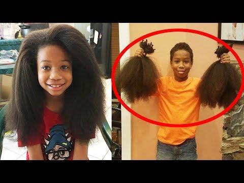 Мальчик 2 года отращивал волосы, чтобы отдать их девочке, больной раком!