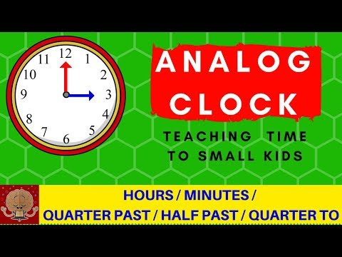 ANALOG CLOCK - Teaching Time to Small Kids in a WEEK