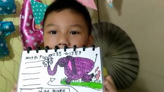 KIDS DRAWING HYBRID EXTINCT ANIMAL  - TAPIR MIX GAJAH