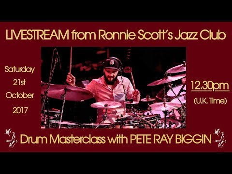 Saturday 21st October - 12.30pm(UK time) Live at Ronnie Scott