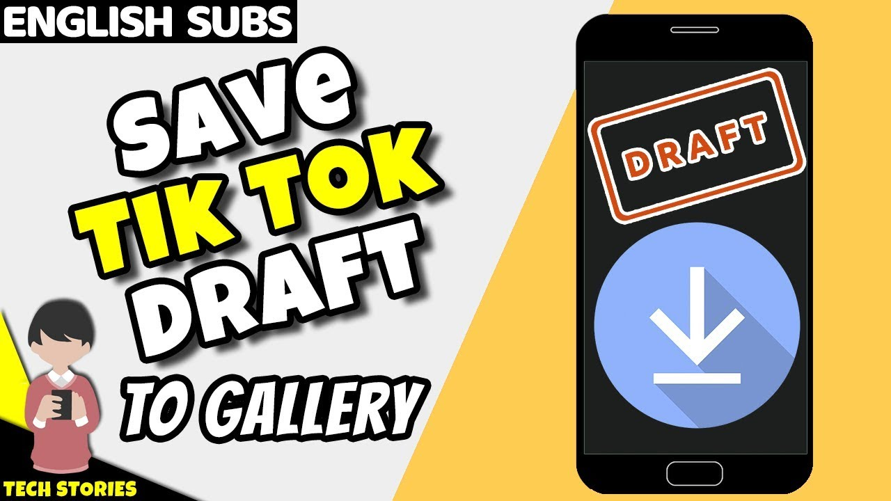 How To Save Tik Tok Draft Video In Gallery Youtube