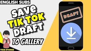 Download lagu How to Save Tik Tok Draft Video in Gallery