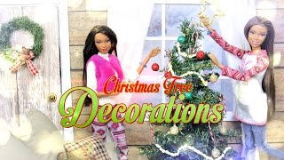 DIY - How to Make:  Doll Christmas Tree Decorations- Handmade - Crafts