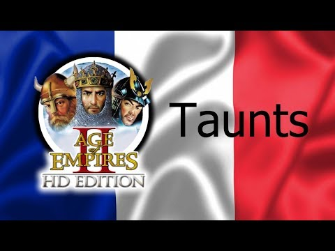 Age of Empires 2 - All Taunts (In French)