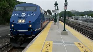 Metro North action at University Heights