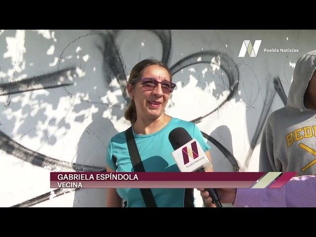 #SET #PueblaNoticias Colocan cubrebocas a niños de Fuente de Los Muñecos