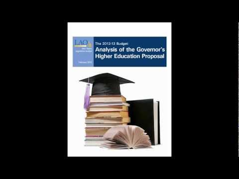 The 2012-13 Budget: Analysis of the Governor's Higher Education Proposal