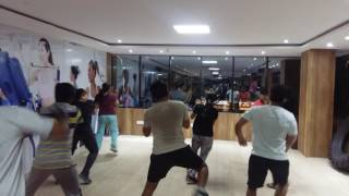 Zumbaa training At 24/7 fitness unisex GYM at Gachibowli KONDAPUR