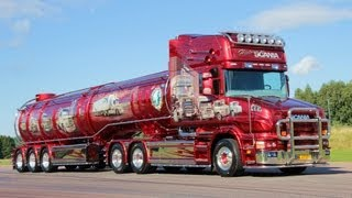 """SCANIA TORPEDO V8 """"HISTORY OF SCANIA"""" AWESOME AIRBRUSH SHOWTRUCK Nordic Trophy"""