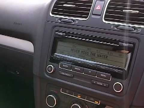 vw golf mk6 tsi standard stereo can sound really good. Black Bedroom Furniture Sets. Home Design Ideas
