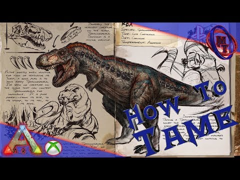 Ark Survival Evolved How To Tame Tyrannosaurus (Rex)