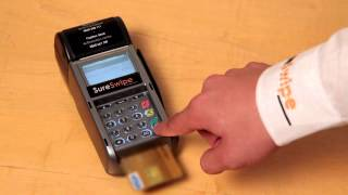 This video from sureswipe will guide you on the process of completing a refund your portable swipe machine