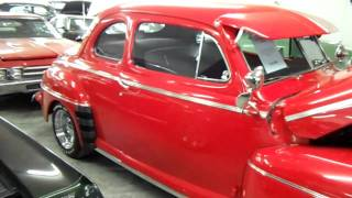 1948 Ford Super Deluxe Coupe - Bright Red Hot Rod