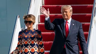 Donald Trump arrives in Florida as Joe Biden sworn in as next US president