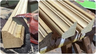 How to Make Timber Mouldings // Woodworking Making Wood Crown Molding With A Router
