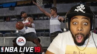 NBA LIVE 19 OFFICIAL TRAILER REACTION! New Dribble Moves, New Dunk Animations, New Storyline & More!