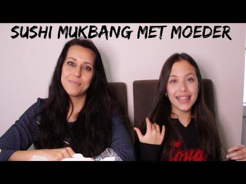 SUSHI MUKBANG MET MOEDER || DAILY TWINLIFE
