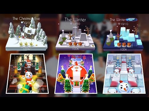 Rolling Sky & Dancing Line - All Winter Theme Levels - Varying Christmas,Christmas eve,Winter | SHA