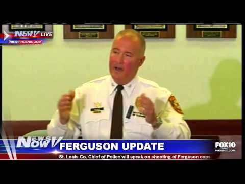 St. Louis Police Chief Discusses Shooting of Two Ferguson Cops