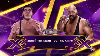 WWE 2K15: Andre The Giant vs The Big Show: BATTLE OF THE GIANTS!