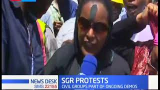 SGR Protests: Uhuru's silence on the SGR directive irks Mombasa Traders and Truck drivers
